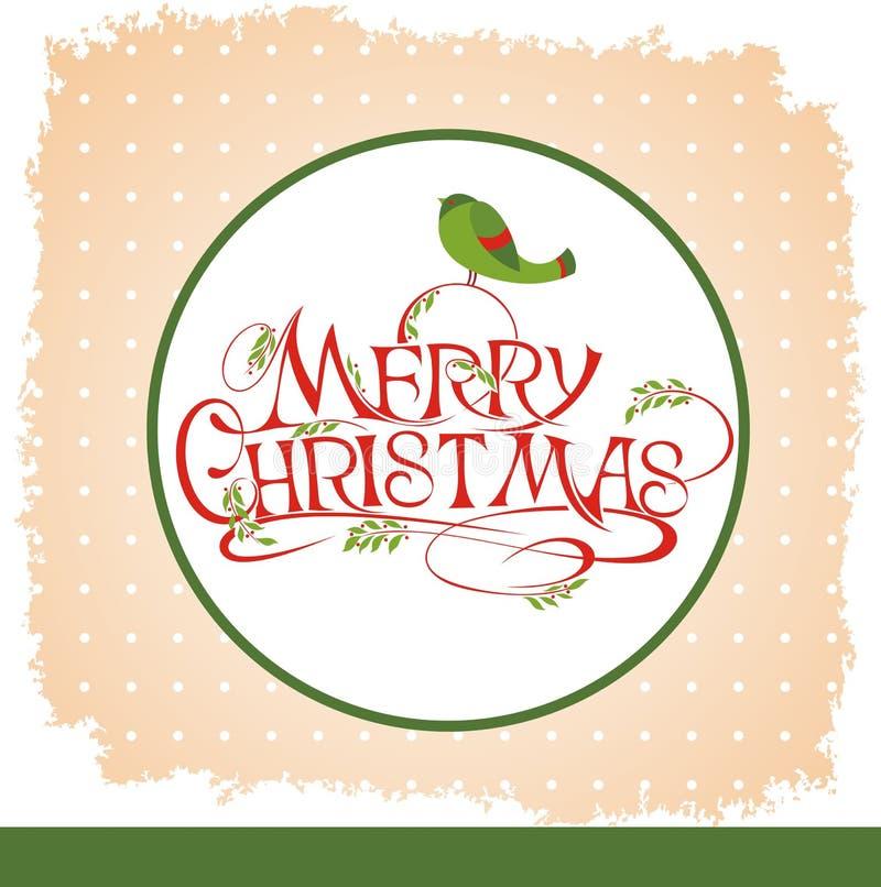 Υπόβαθρο Χριστουγέννων με τα πουλιά διανυσματική απεικόνιση