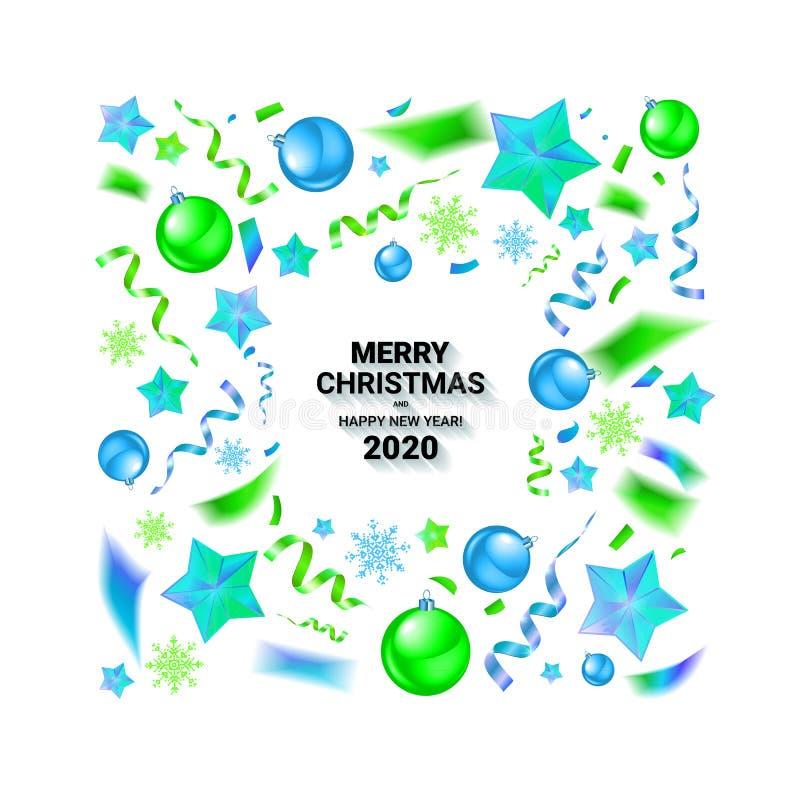 Υπόβαθρο Χριστουγέννων με τα όμορφα σύνορα διανυσματική απεικόνιση