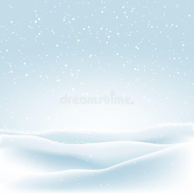 Υπόβαθρο Χριστουγέννων με το χειμερινό χιόνι ελεύθερη απεικόνιση δικαιώματος