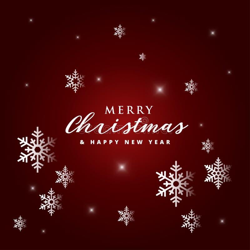 Υπόβαθρο Χριστουγέννων με snowflake τη διανυσματική εικόνα αποθεμάτων απεικόνιση αποθεμάτων