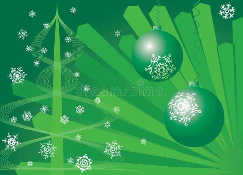 Υπόβαθρο Χριστουγέννων. Πράσινος. απεικόνιση αποθεμάτων