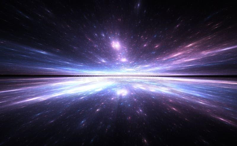 Υπόβαθρο χρονικών στρεβλώσεων, που ταξιδεύει στο διάστημα διανυσματική απεικόνιση