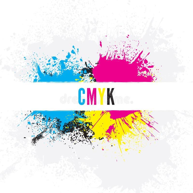 Υπόβαθρο CMYK ελεύθερη απεικόνιση δικαιώματος
