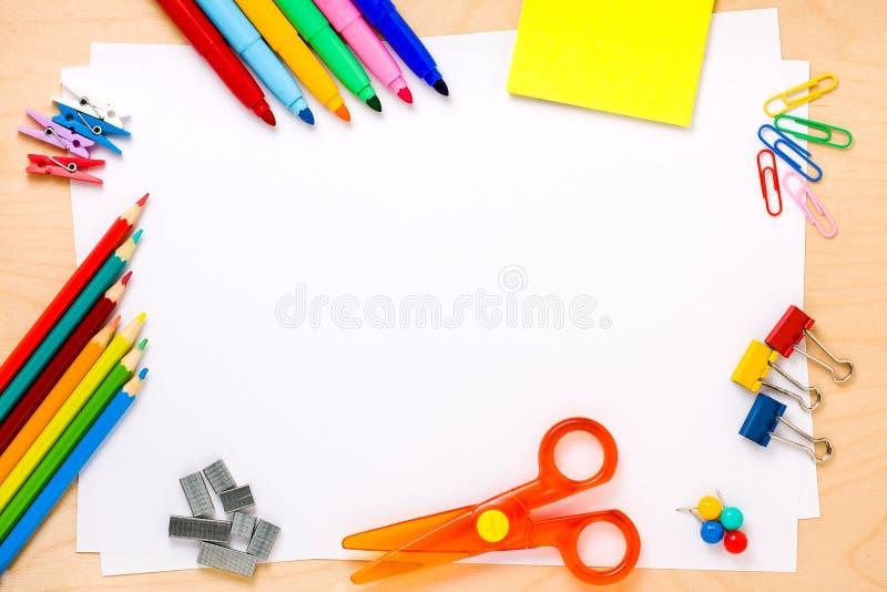 Υπόβαθρο Copyspace σχολικών πλαισίων στοκ φωτογραφία με δικαίωμα ελεύθερης χρήσης