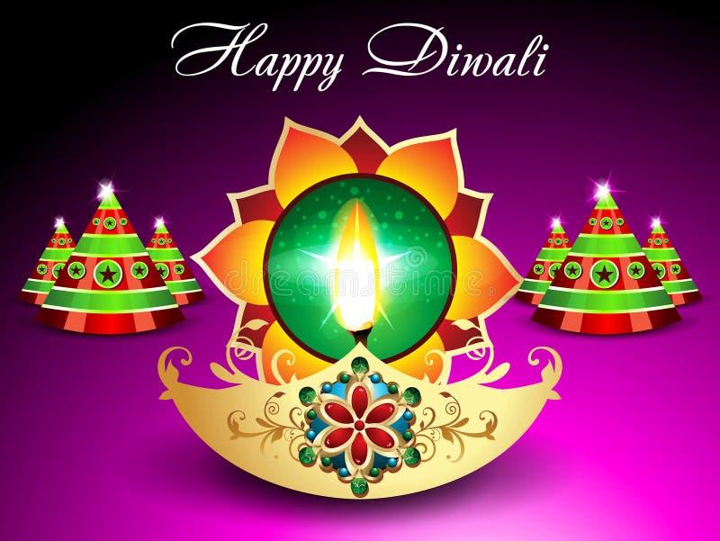 Υπόβαθρο Diwali με το σπινθήρισμα ελεύθερη απεικόνιση δικαιώματος