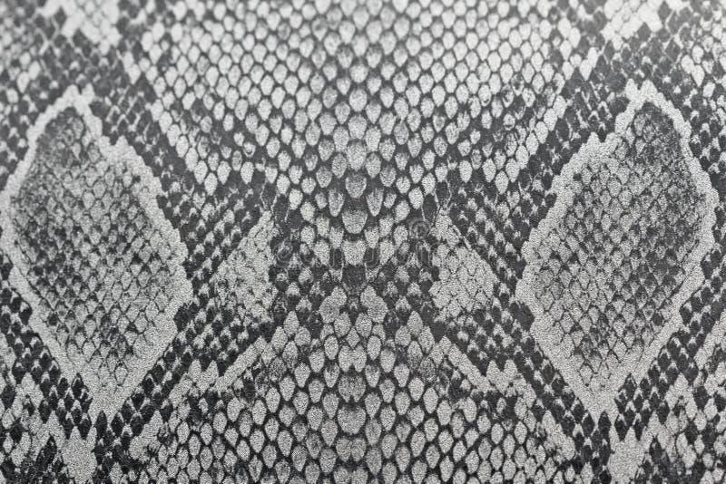 Υπόβαθρο Dray φιαγμένο από δέρμα ενός φιδιού ή δέρμα ενός ερπετού, χρώμιο στοκ φωτογραφία με δικαίωμα ελεύθερης χρήσης