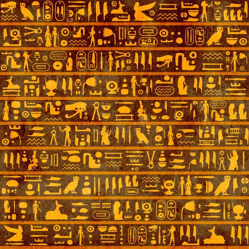 Υπόβαθρο Grunge με αρχαία αιγυπτιακά hieroglyphs διανυσματική απεικόνιση