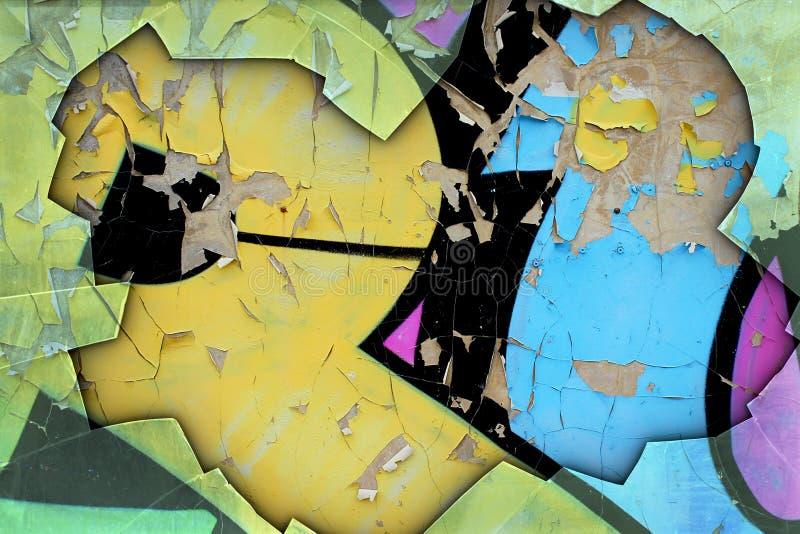 Υπόβαθρο Grunge με τα γκράφιτι ελεύθερη απεικόνιση δικαιώματος