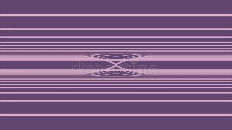 Υπόβαθρο Loopable με τις συμπαθητικές αφηρημένες, φουτουριστικές ζωηρόχρωμες γραμμές Ζωηρόχρωμος αφηρημένος κυματιστός βρόχος λωρ απεικόνιση αποθεμάτων