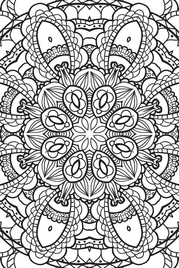 Υπόβαθρο Mandala Εθνικά διακοσμητικά στοιχεία συρμένο χέρι απεικόνιση αποθεμάτων