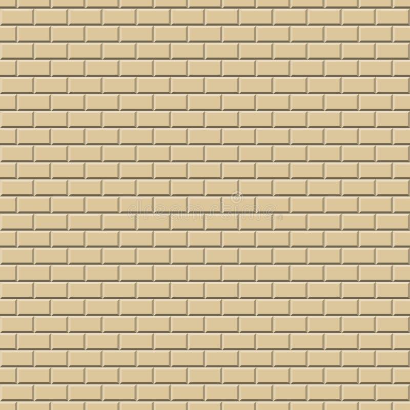 Υπόβαθρο OCHER τοίχων - ατέλειωτα διανυσματική απεικόνιση