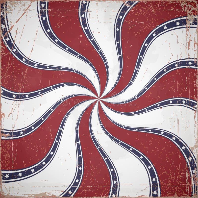 Υπόβαθρο Swirly grunge, χρώματα αμερικανικών σημαιών ελεύθερη απεικόνιση δικαιώματος