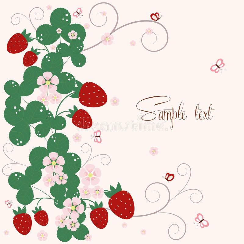 Υπόβαθρο Vecor με τις φράουλες ελεύθερη απεικόνιση δικαιώματος
