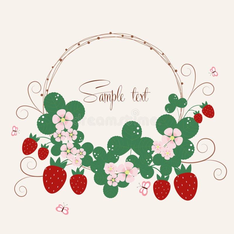 Υπόβαθρο Vecor με τις φράουλες απεικόνιση αποθεμάτων