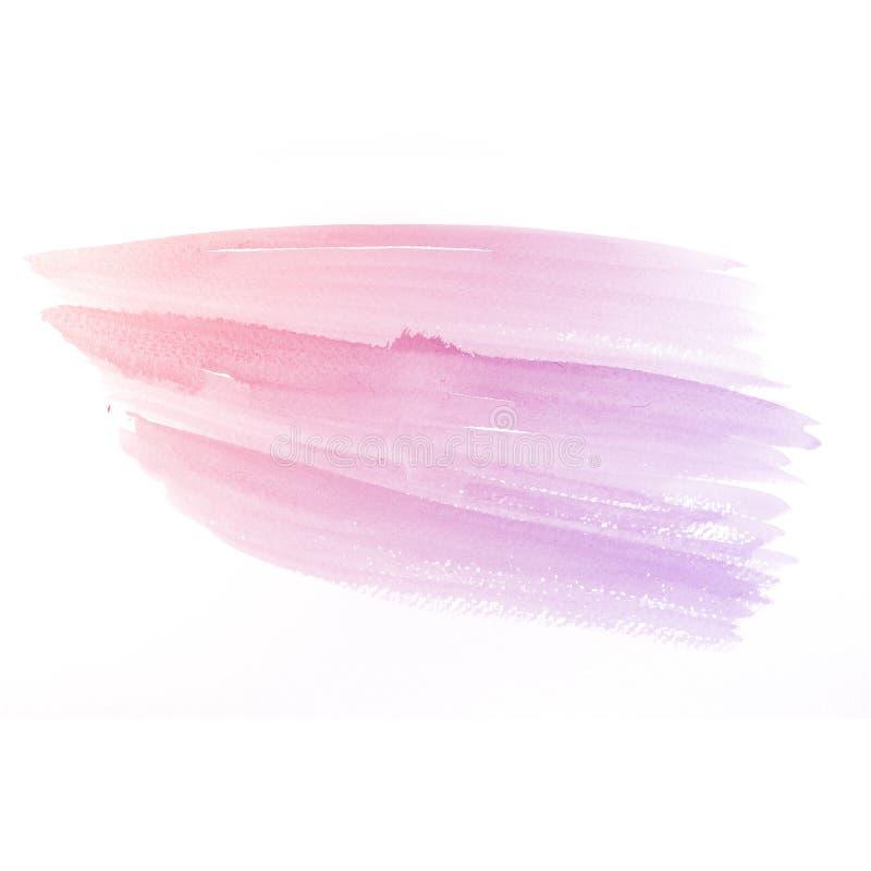 Υπόβαθρο Watercolor. ζωηρόχρωμη κόκκινη ρόδινη σύσταση χρωμάτων υδατοχρώματος απεικόνιση αποθεμάτων