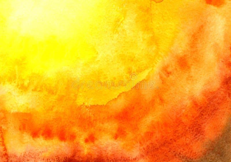 Υπόβαθρο Watercolor, που σύρει με το χέρι με την εικόνα των πορτοκαλιών σημείων με μια κλίση Για το σχέδιο των υποβάθρων, καλύψει ελεύθερη απεικόνιση δικαιώματος