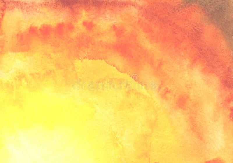 Υπόβαθρο Watercolor, που σύρει με το χέρι με την εικόνα των πορτοκαλιών σημείων με μια κλίση Για το σχέδιο των υποβάθρων, καλύψει απεικόνιση αποθεμάτων