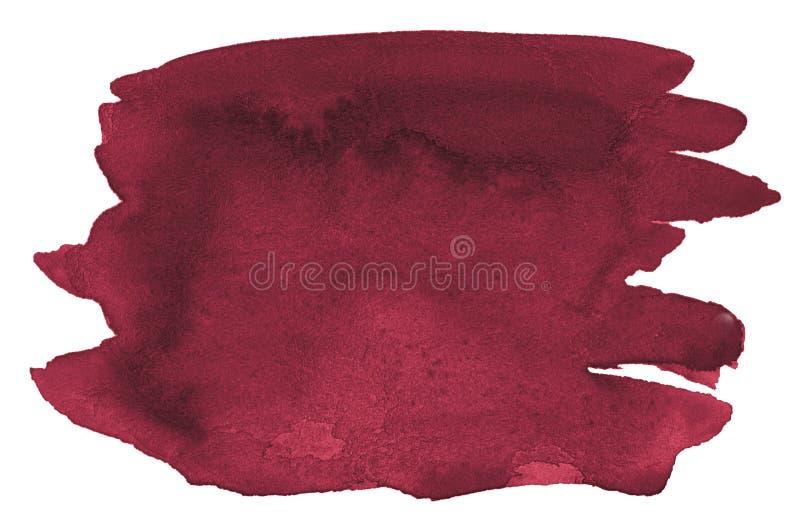 Υπόβαθρο Watercolor των καθιερωνόντων τη μόδα χρωμάτων του περσικού κοκκίνου με τα αιχμηρά σύνορα και τα διαζύγια r στοκ εικόνα