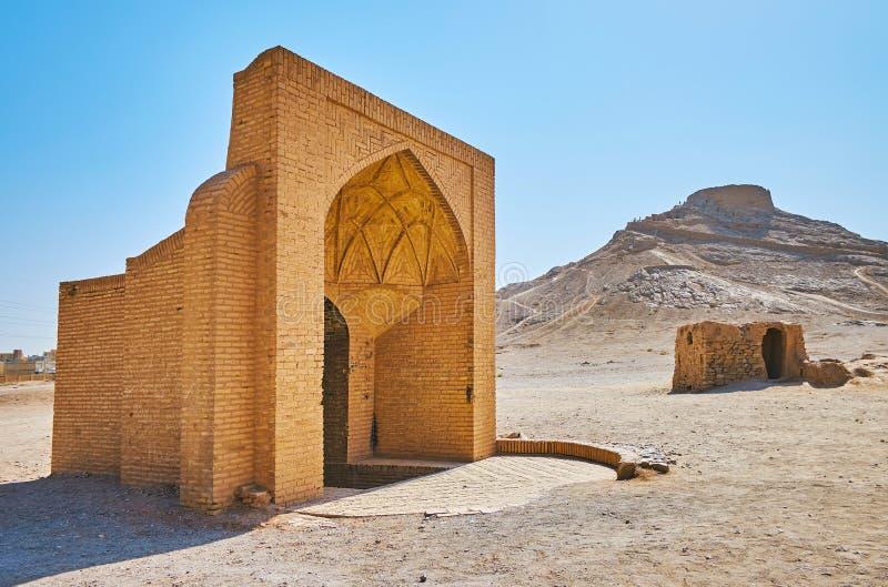 Υπόγεια δεξαμενή νερού στην έρημο, Yazd, Ιράν στοκ φωτογραφία με δικαίωμα ελεύθερης χρήσης