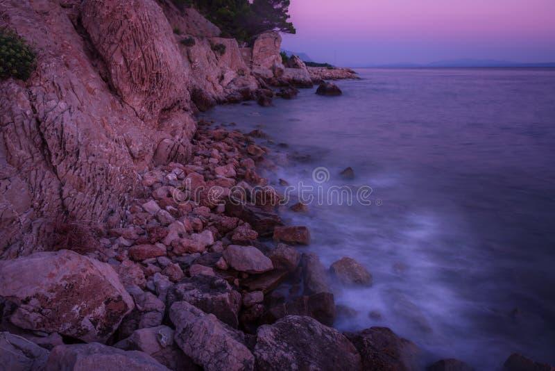 Υπόγεια νερά ηλιοβασιλέματος στοκ εικόνα με δικαίωμα ελεύθερης χρήσης