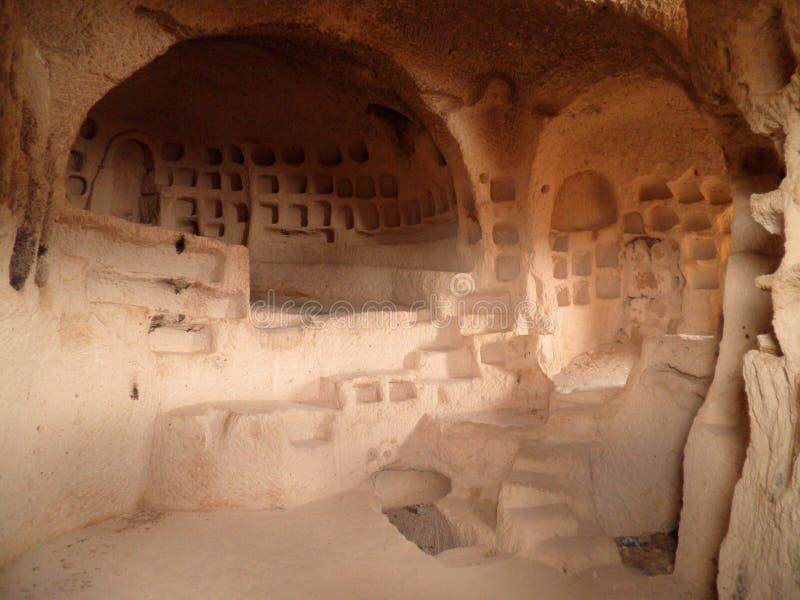Υπόγεια πόλη Cappadocia στοκ εικόνες
