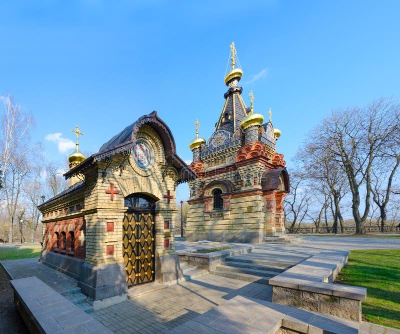 Υπόγειος θάλαμος παρεκκλησιών και ενταφιασμών των πριγκήπων Paskevich, Gomel, Λευκορωσία στοκ φωτογραφία με δικαίωμα ελεύθερης χρήσης