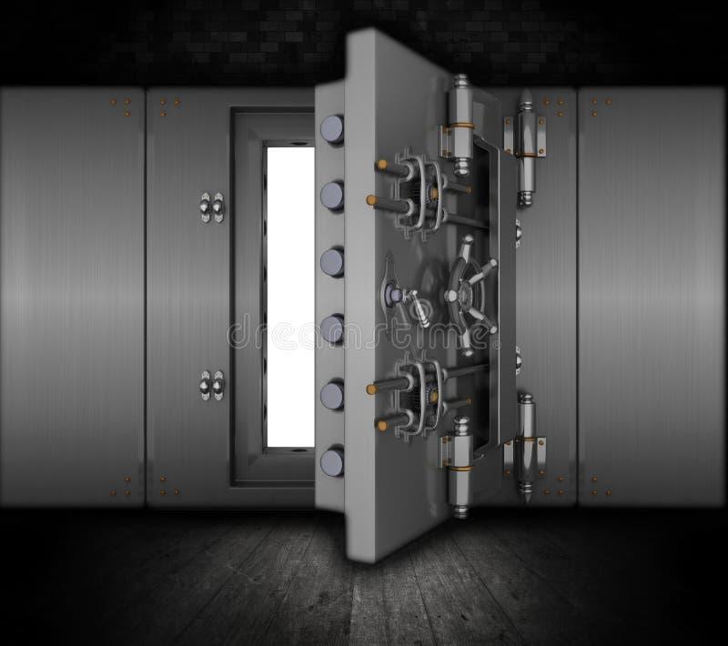 Υπόγειος θάλαμος τραπεζών Grunge ελεύθερη απεικόνιση δικαιώματος