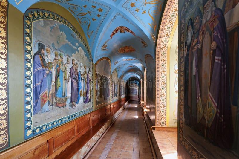 Υπόγειος ναός ιερού Dormition Pochayiv Lavra, Ουκρανία στοκ εικόνα με δικαίωμα ελεύθερης χρήσης