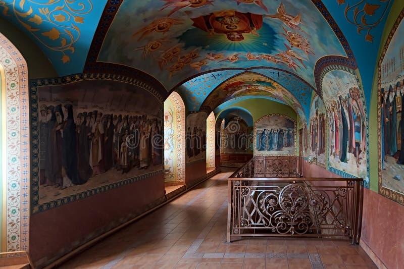Υπόγειος ναός ιερού Dormition Pochayiv Lavra, Ουκρανία στοκ φωτογραφία με δικαίωμα ελεύθερης χρήσης