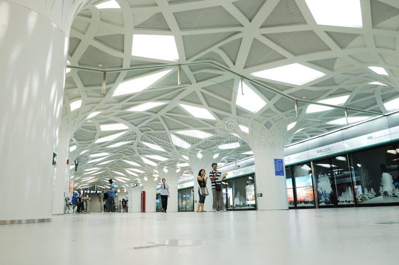 υπόγειος σταθμών Ολυμπιακών Αγώνων στοκ φωτογραφία με δικαίωμα ελεύθερης χρήσης