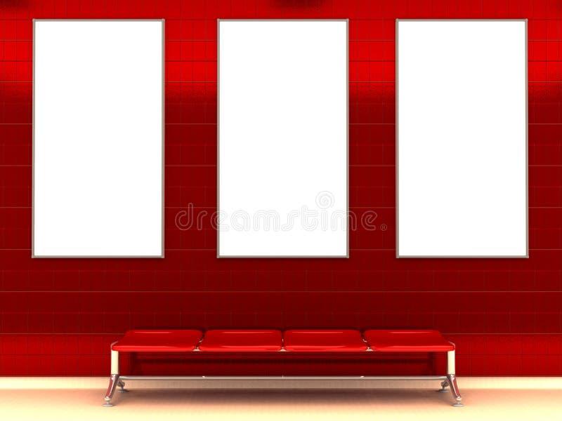 υπόγειος σταθμών πάγκων ελεύθερη απεικόνιση δικαιώματος