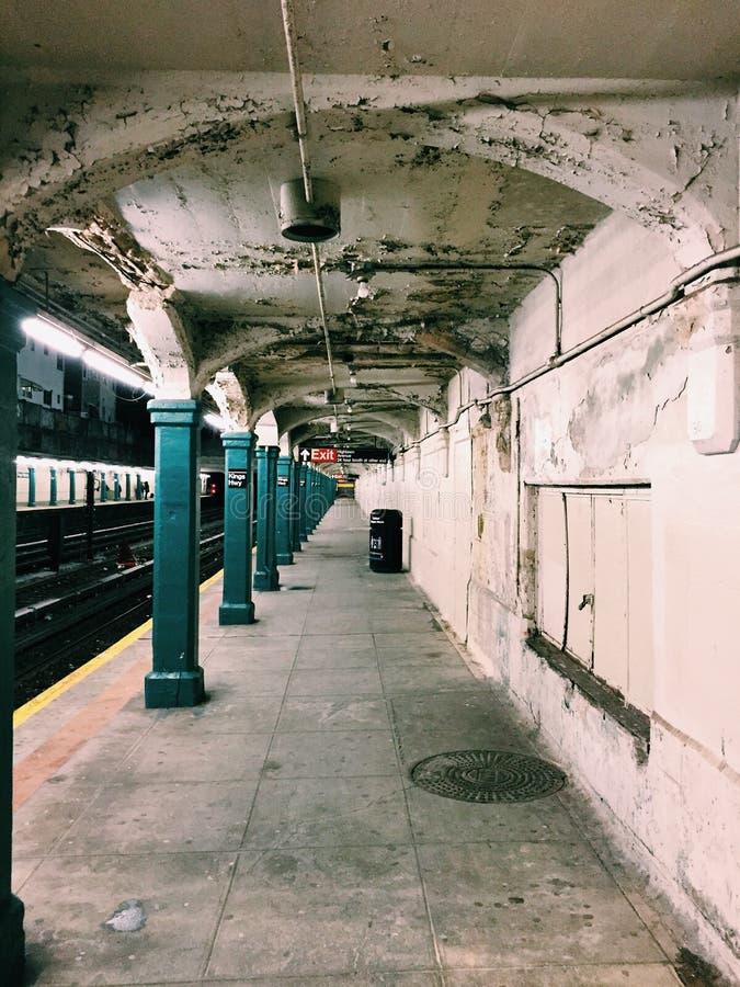 Υπόγειος στην πόλη της Νέας Υόρκης στοκ φωτογραφίες