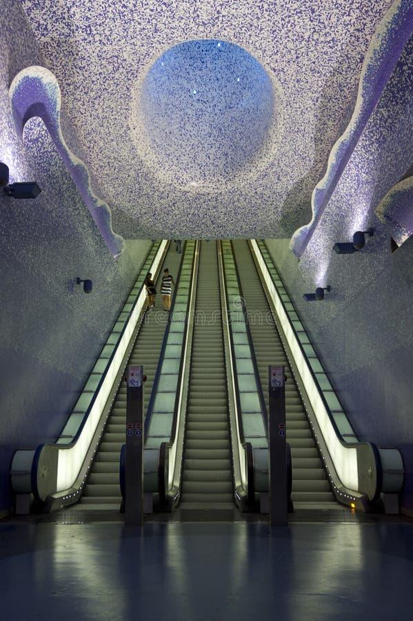 Υπόγειος της Νάπολης, σταθμός τέχνης του Τολέδο στοκ φωτογραφίες με δικαίωμα ελεύθερης χρήσης