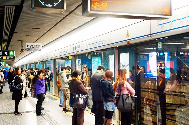 Υπόγειος Χονγκ Κονγκ στοκ φωτογραφία