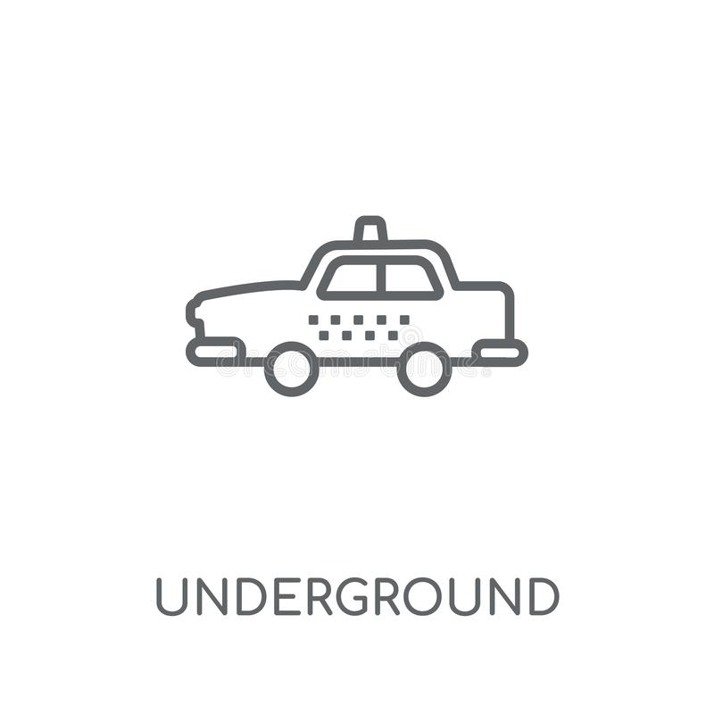 Υπόγειο γραμμικό εικονίδιο Σύγχρονη έννοια λογότυπων περιλήψεων υπόγεια ελεύθερη απεικόνιση δικαιώματος