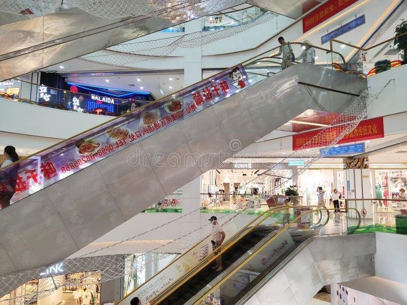 Υπόγειο εμπορικό κέντρο οδών Sanya μοντέρνο στοκ εικόνες με δικαίωμα ελεύθερης χρήσης