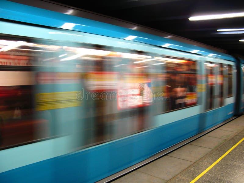 υπόγειο τρένο στοκ εικόνες
