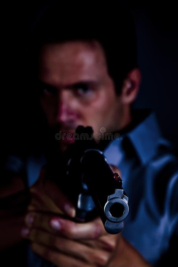 υπόδειξη ατόμων πυροβόλων ό στοκ φωτογραφία