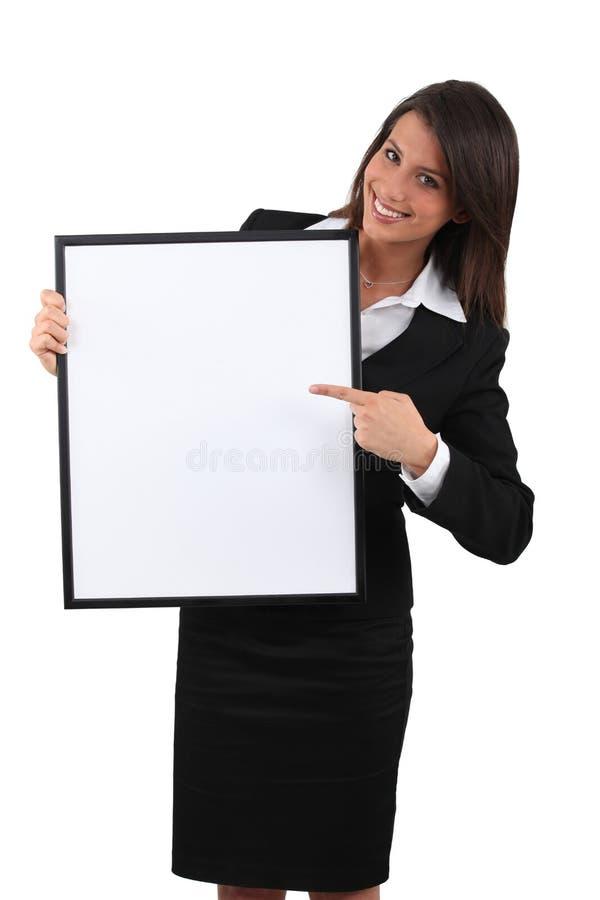 υπόδειξη επιχειρηματιών στοκ εικόνα
