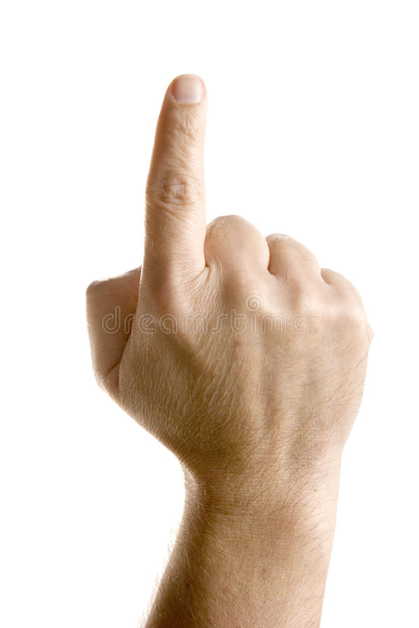 υπόδειξη ευρετηρίων δάχτ&upsil στοκ φωτογραφία
