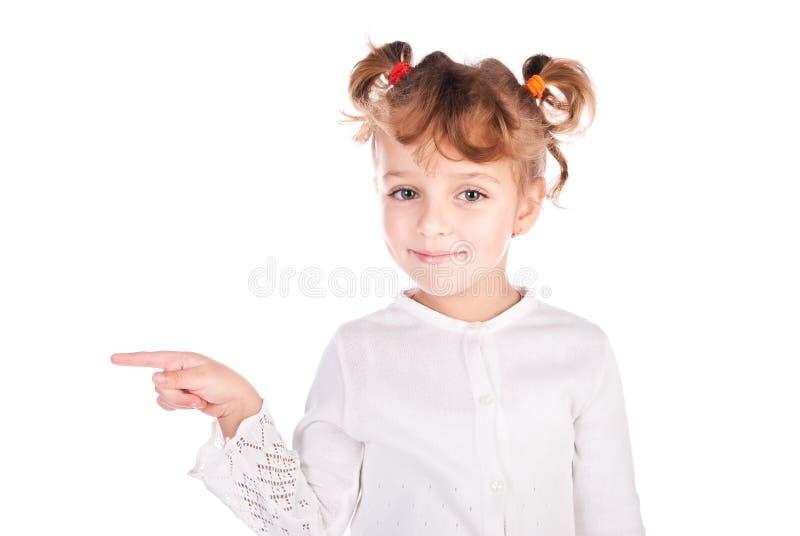 υπόδειξη κοριτσιών δάχτυ&lambd στοκ φωτογραφία με δικαίωμα ελεύθερης χρήσης