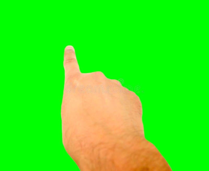 Υπόδειξη με το κλειδί χρωμίου στοκ φωτογραφία με δικαίωμα ελεύθερης χρήσης