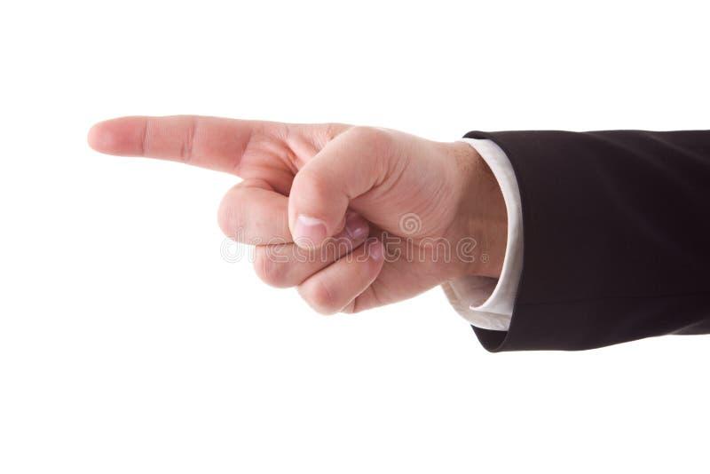 υπόδειξη χεριών λεπτομέρ&epsilon στοκ εικόνα