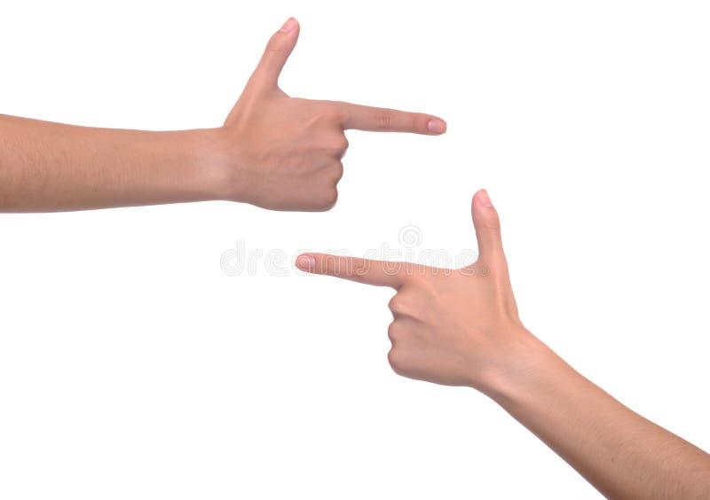 υπόδειξη χεριών στοκ εικόνες