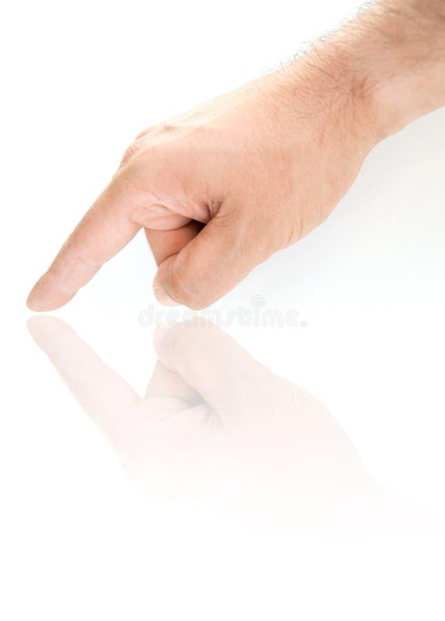 υπόδειξη χεριών στοκ εικόνα με δικαίωμα ελεύθερης χρήσης