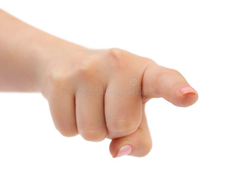 υπόδειξη χεριών στοκ φωτογραφία
