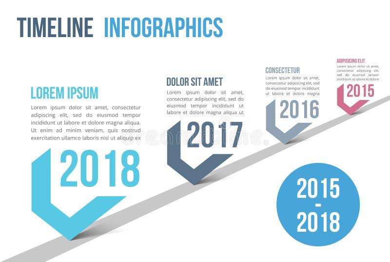 Υπόδειξη ως προς το χρόνο Infographics απεικόνιση αποθεμάτων