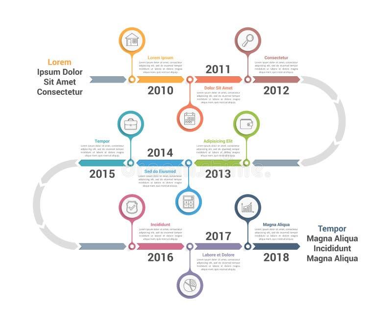 Υπόδειξη ως προς το χρόνο Infographics ελεύθερη απεικόνιση δικαιώματος