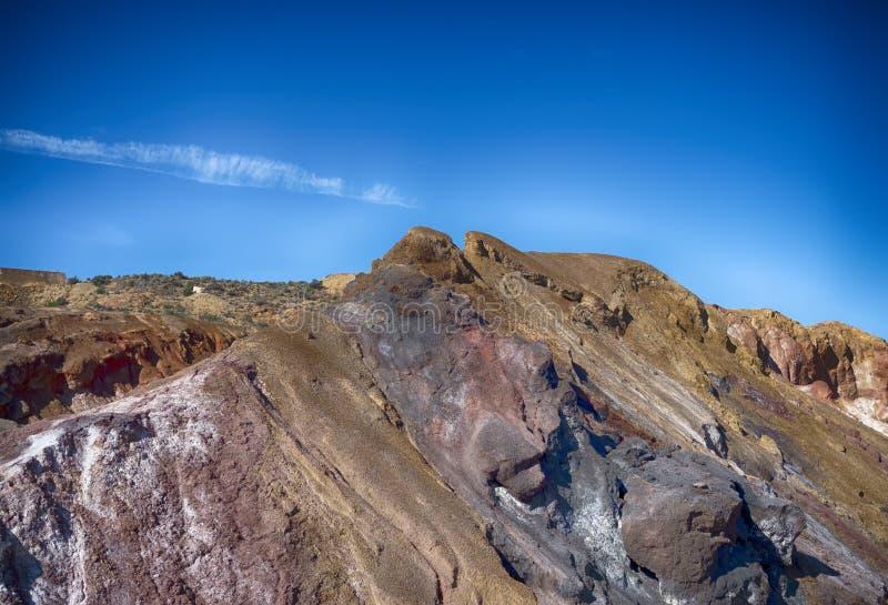 Υπόλειμμα από ένα κλειστό ορυκτό ορυχείο στην Ισπανία στοκ φωτογραφία