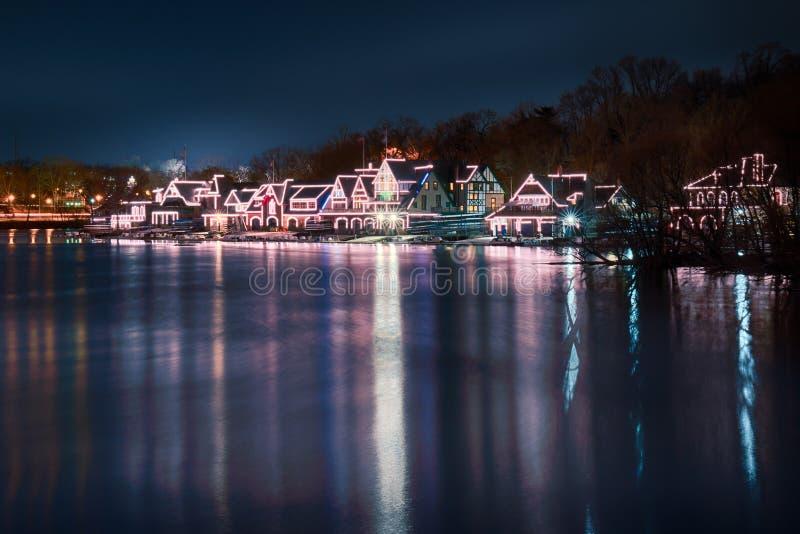 Υπόλοιπος κόσμος της Φιλαδέλφειας Boathouse στοκ εικόνα
